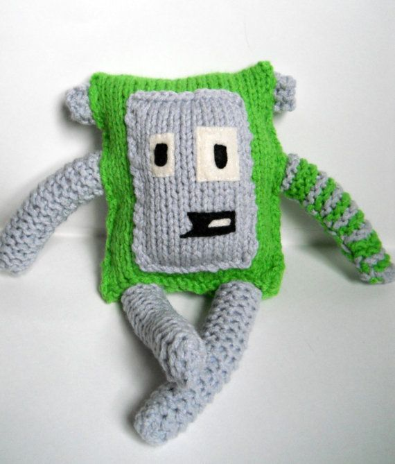 Hey, I found this really awesome Etsy listing at https://www.etsy.com/listing/90952160/cute-green-handmade-knit-monster