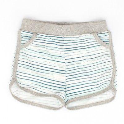 shorts weiss-grau von Pünktchen Komma Strich