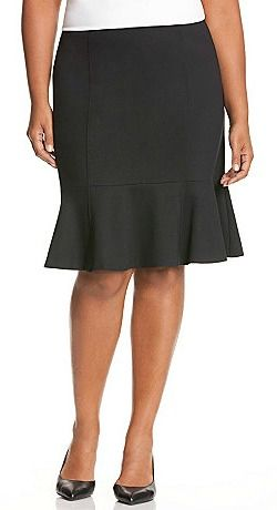 A fluted pencil skirt (needs to have the ruffled bottom). Pinstriped is much preferred!