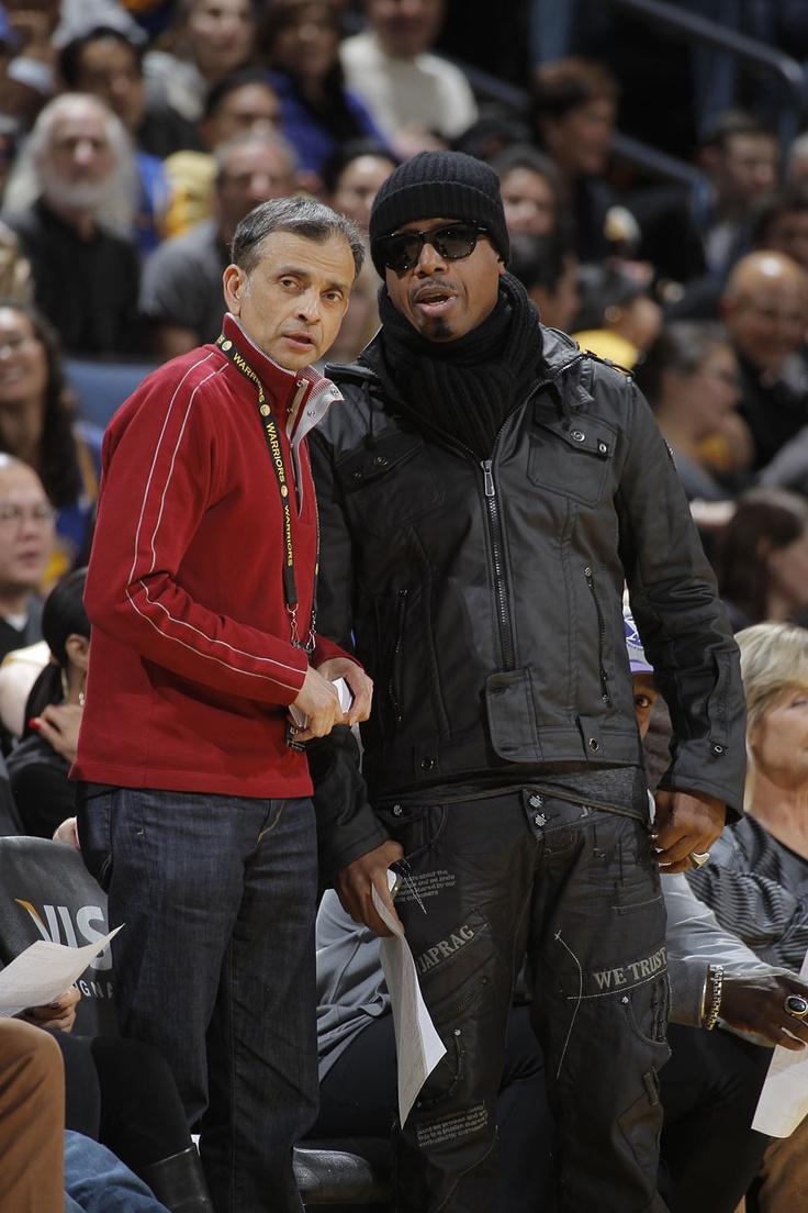 Golden State Warriors owner Vivek Ranadive and MC Hammer