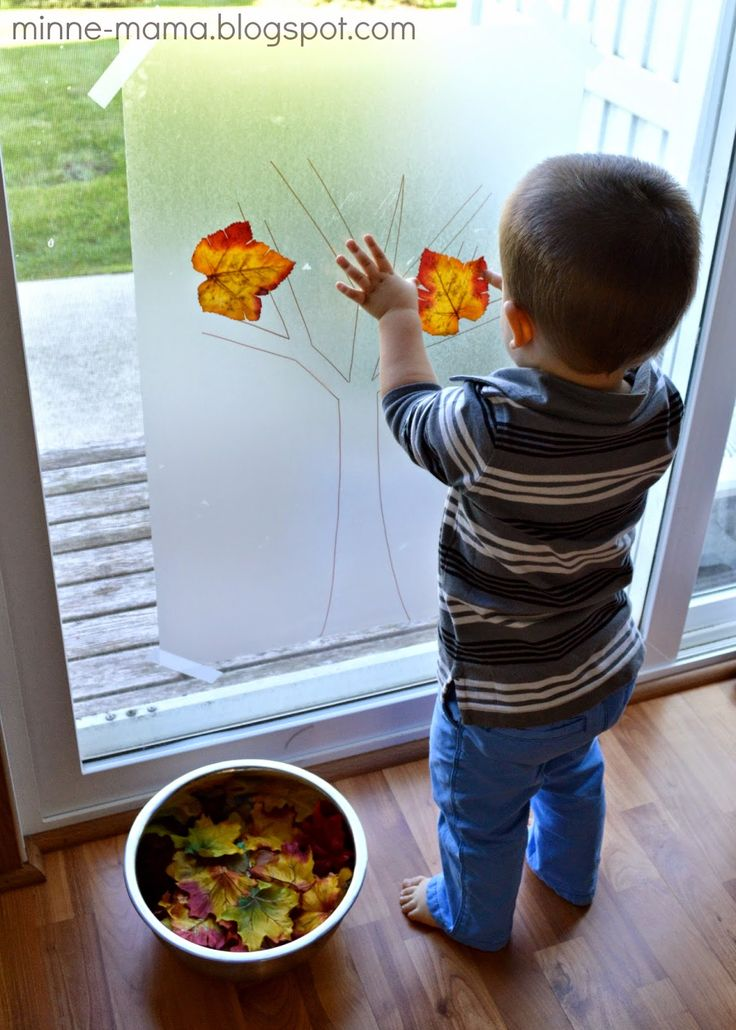 Minne-Mama: Fall Tree Contact Paper Play