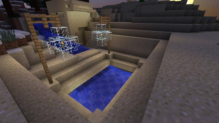 Minecraft Swimming Pool Design Home Ideas In And Out Pinterest