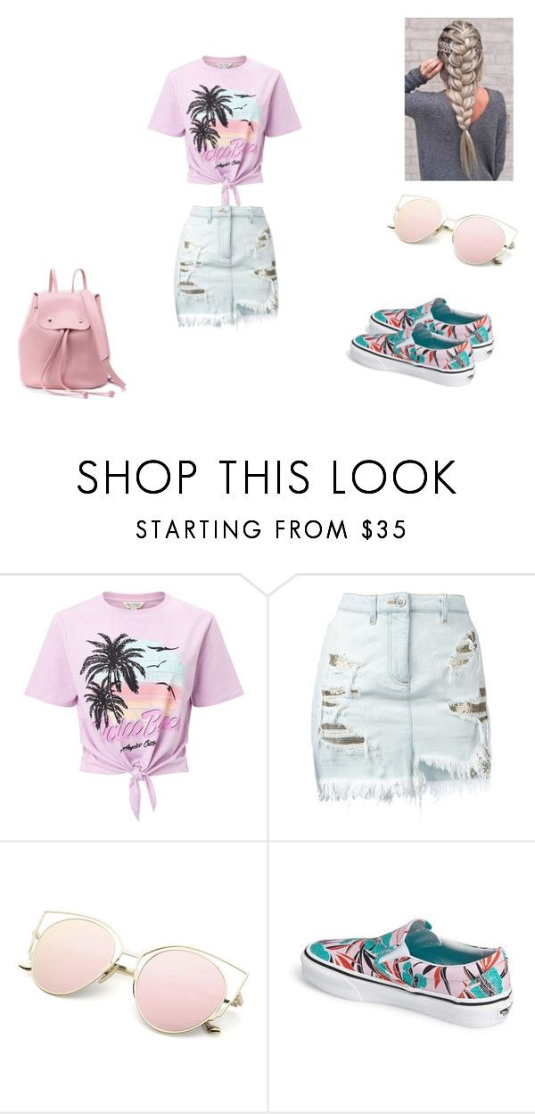 """""""summer teenage outfit"""" by cutehydia on Polyvore featuring Miss Selfridge, Versus and Vans"""