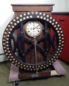 Antique International Time Recording Co Endicott New York Industrial Time Clock   eBay