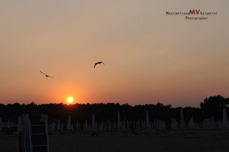 #tramonto #gabbiani #mare #matrimonio #wedding