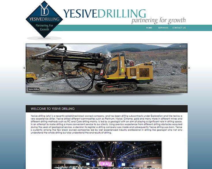 WEBSITE DESIGN >> Yesive Drilling (Mpumalanga)