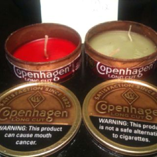 Copenhagen candles by Melissa smith :) give me some cans and I'll make you some candles