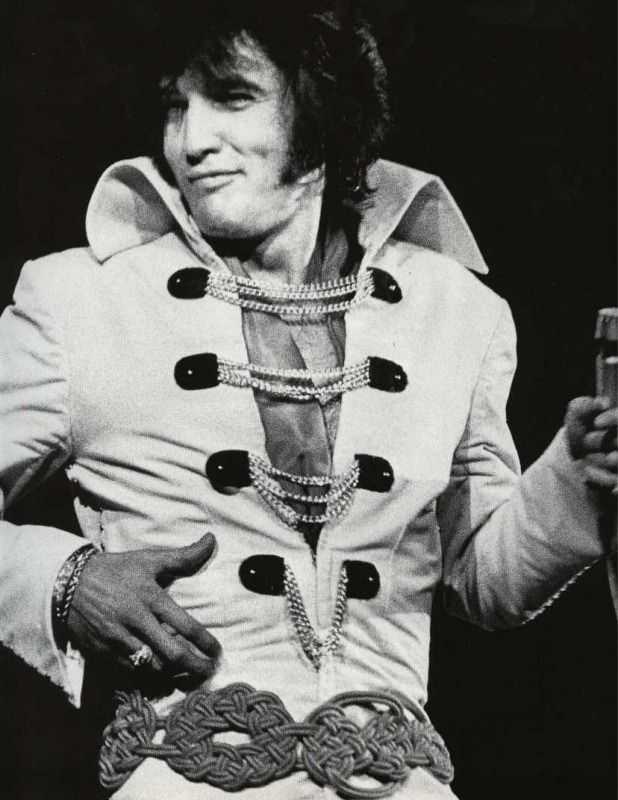 elvis presley ck: there was no one as charismatic on stage as he was.