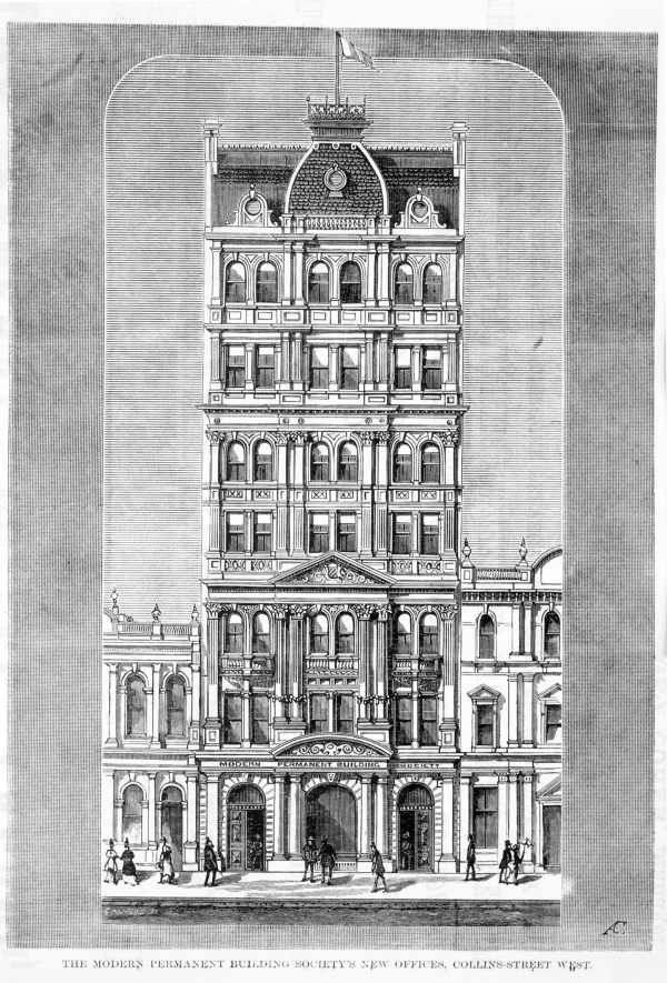 Modern Permanent Society Building, Melbourne, Australia, Built 1887, Demolished in the 1970's.