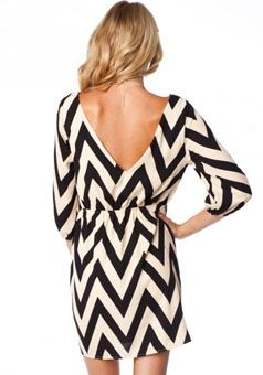 Chevron Dress with some cowboy boots. GIMME!