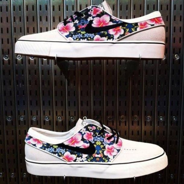 shoes janoski's nike floral summer