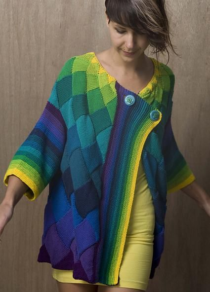 Art Deco Cardigan by Helen Hamann. Pattern is here: http://www.ravelry.com/patterns/library/art-deco-cardigan