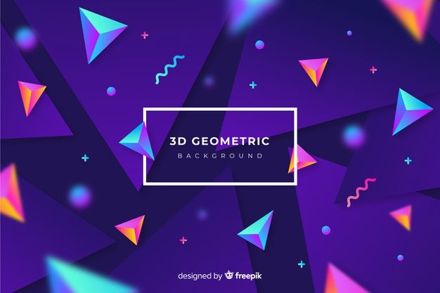 Download Gradient 3d Shapes Background For Free Vector Free Geometric Background Backgrounds Free