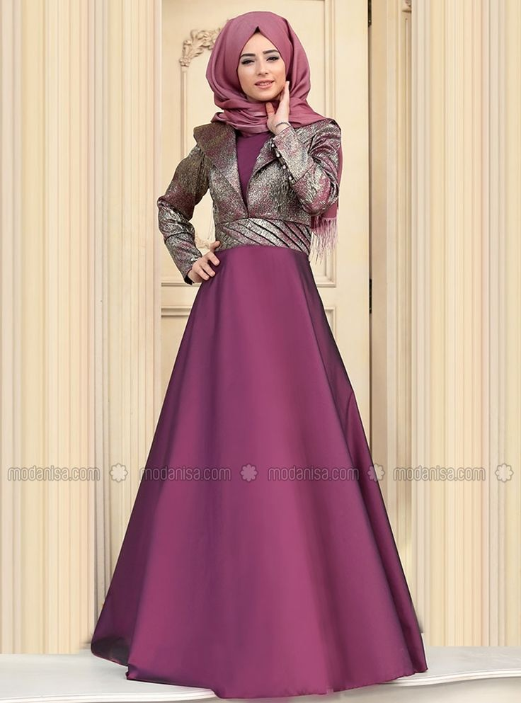Kösem Evening - Purple - Muslim Evening Dresses - Modanisa