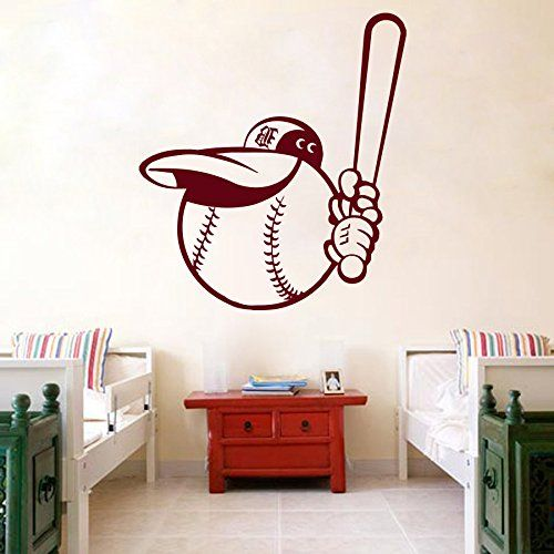 Wall Decal Vinyl Sticker Sports Baseball Ballplayer Player Ball Bat Game Team Sporting Event Boy Baby Kids Children Room Gym Home Interior Decor Art Murals Art Design Interior M61 DecalStoreVienna http://www.amazon.com/dp/B018BFR22Y/ref=cm_sw_r_pi_dp_1yJuwb0QJZ6HW
