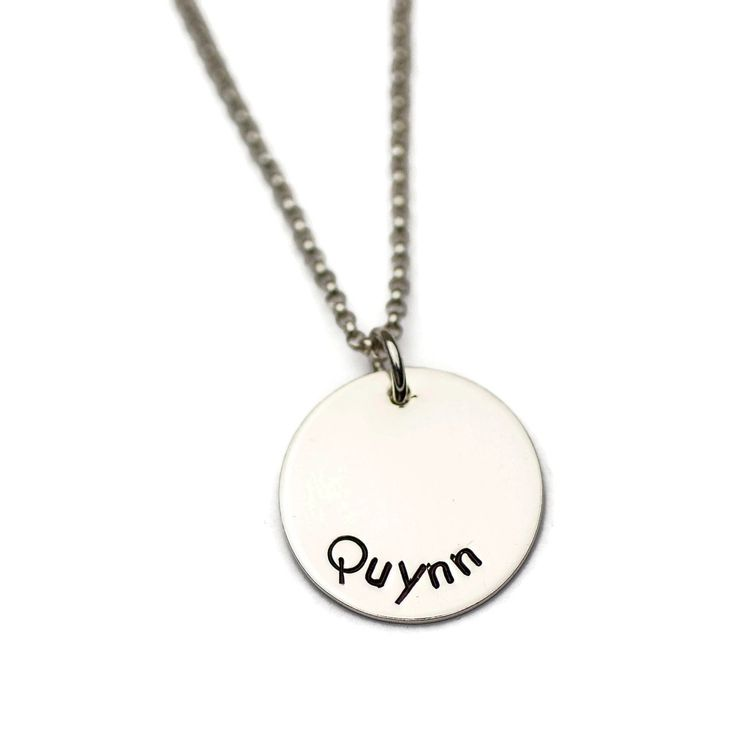 Personalized Name Necklace, Sterling Silver