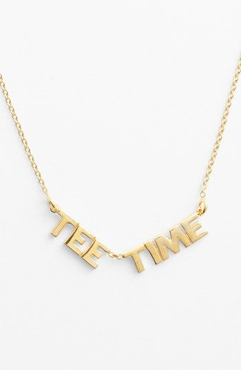 kate spade new york 'on par - tee time' pendant necklace | Nordstrom