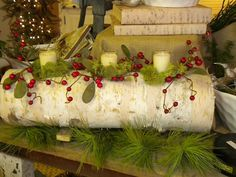 Log candle/mantle or table