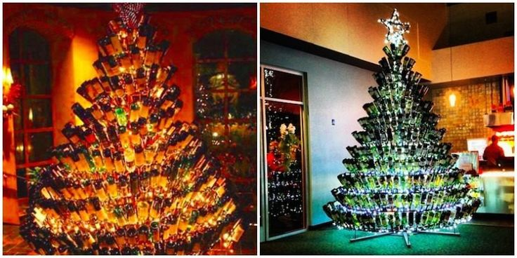 Wine Bottle Christmas Trees Are The Latest Holiday Trend