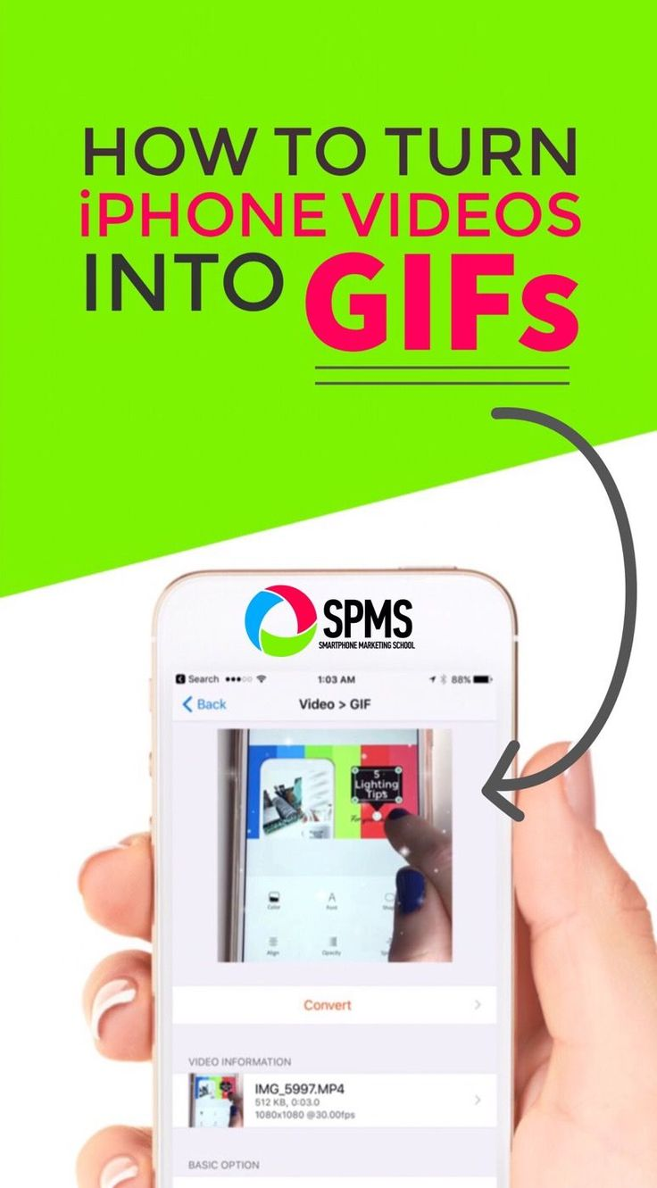 Increase social media engagement with GIFs made from your iPhone videos. Easy to do!