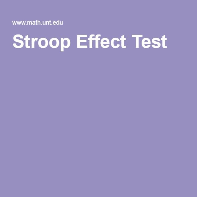 lab report the stroop effect According to the article on bilingual stroop, the author examined the interference among proficient english-japanese bilingual speakers the participants were.