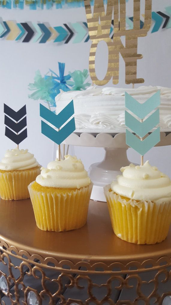 Tribal Arrow Birthday Cupcake Topper by eventprint on Etsy