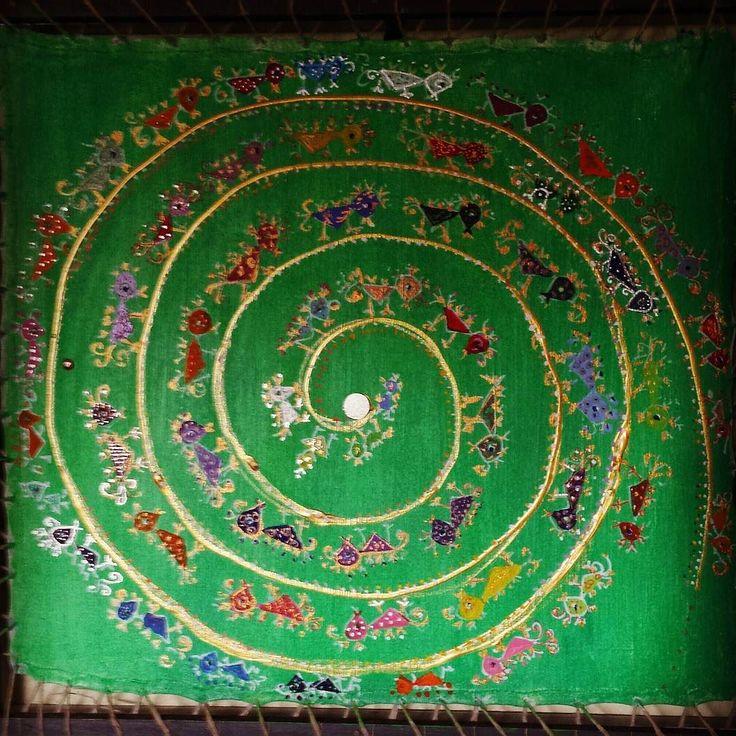 #spiral #birds #thangka #cloth #out
