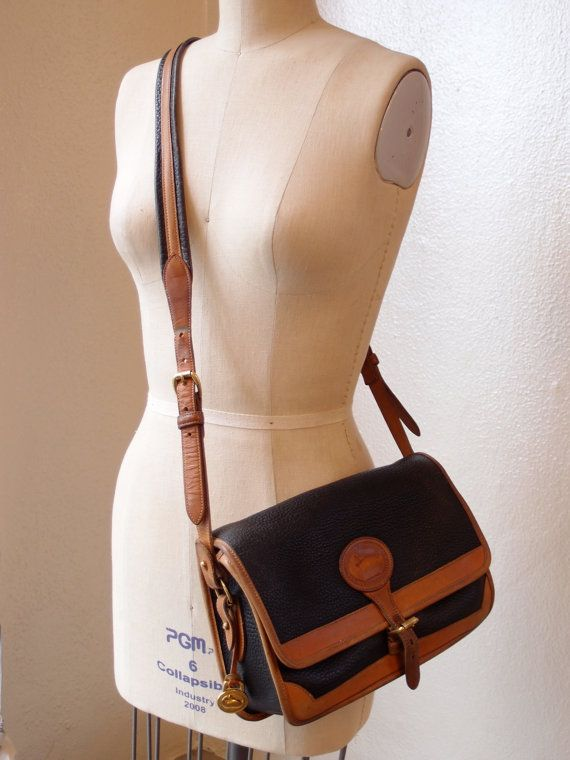 Vintage Dooney And Bourke Cross Body Bag In Black All Weather Leather 2018 Bags Clutches Wallets Pinterest Crossbody