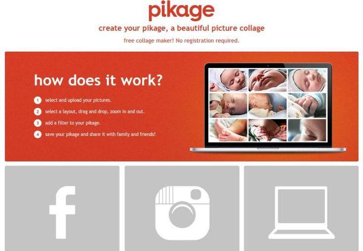 Pikage es una utilidad web gratuita para componer bonitos collages con nuestras fotos, a partir de plantillas y con la posibilidad de aplicarles efectos.