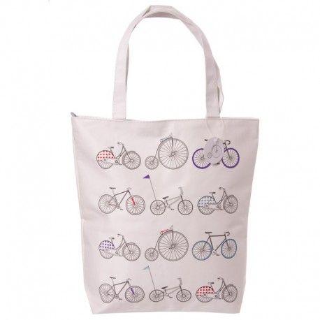 Sac en coton avec fermeture éclair - Vélos