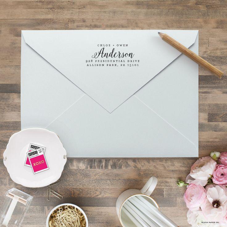 Custom Return Address Stamp - Personalized Address Stamp - Self Inking Return Address Stamp - Calligraphy Return Address Stamps by blushprintables on Etsy https://www.etsy.com/listing/287740165/custom-return-address-stamp-personalized