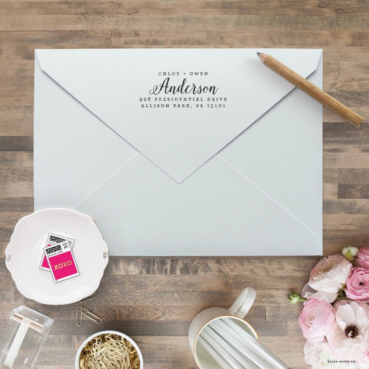 Custom Return Address Stamp - Personalized Address Stamp - Self Inking Return Address Stamp - Calligraphy Return Address Stamps by blushprintables on Etsy https://www.etsy.com/listing/287740165/custom-return-address-stamp-personalized
