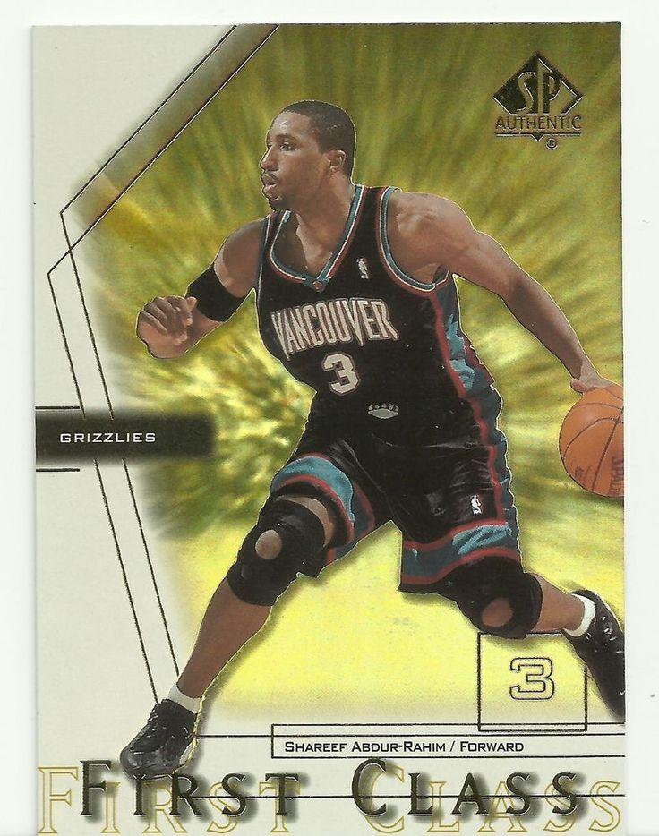2001 Shareef Abdur-Rahim Upper Deck SP Authentic Basketball Card Grizzlies FC1