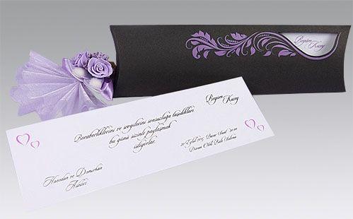 Originele trouwkaarten paarse bloemen | Timeless Gifts