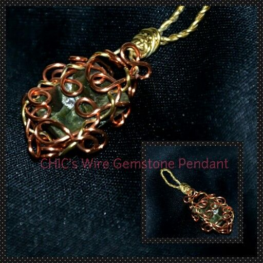 Wire wrapping stone pendant