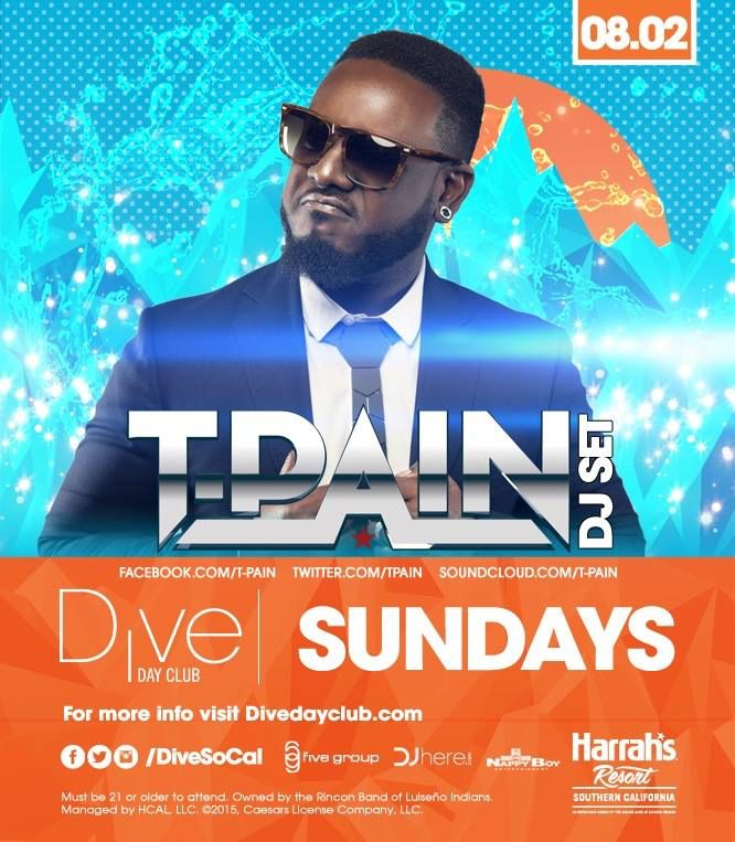 "T Pain Dive Day Club Harrahs Pool Party San Diego Buses Tickets Promo Code Discounts  10%OFF DISCOUNT ON HARRAHS DIVE TICKETS PROMO Dive Promo Code ANYTIME ""nocturnalsd"" 10%OFF -LINK https://www.dayclubtickets.com/affiliate/nocturnal1  T Pain Dive Day Club Harrahs Pool Party San Diego Buses Tickets Promo Code Discounts  Neon Nights / Yacht Parties -LINK http://www.diveneonnights.com/ Promo Code ""nocturnalsd"" 10% OFF  Private Transportation Discounts ANYTIME for Any Event LINK…"