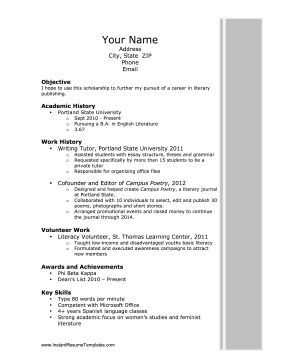 Job Resume College Skills Tips Sample