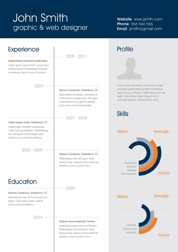 free clean one page resume by karina ogrek via behance - Free One Page Resume Template