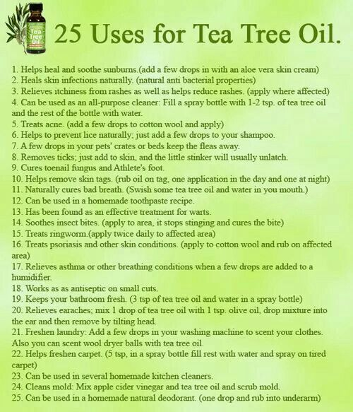 Tea tree oil (melaleuca) is very versatile.  Some people believe it is antifungal, antibacterial, and antiviral.