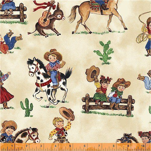 8 best images about western fabric on pinterest for Vintage childrens fabric prints