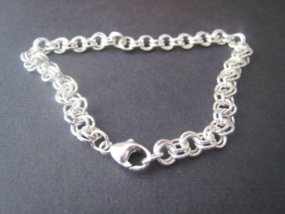 Chainmaille bracelet personalized custom by stampedjewellery, $70.00