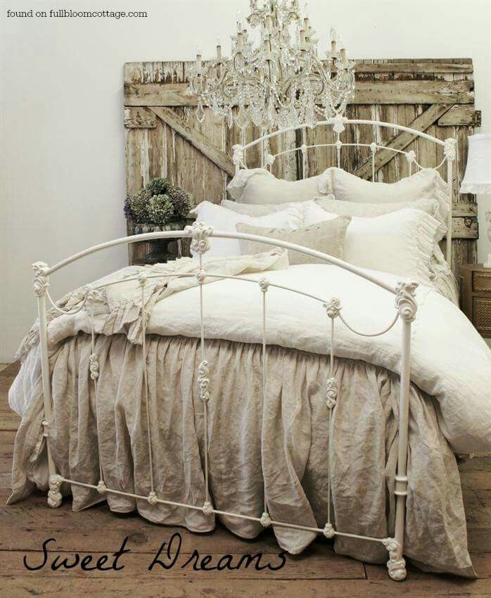 Drop Cloth Bedding · Rustic BedroomsRomantic ...