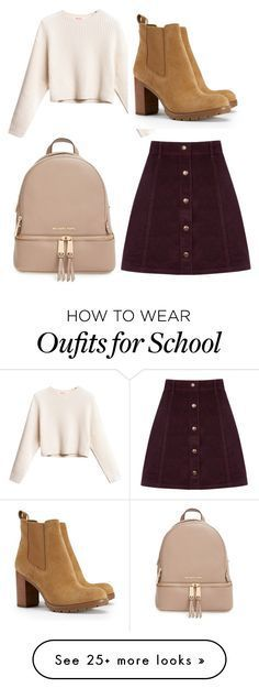 """""""Back to School"""" by mayadelpapaya on Polyvore featuring Oasis, Tory Burch and MICHAEL Michael Kors"""