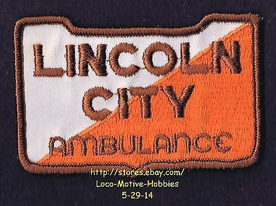 LMH-PATCH-Badge-LINCOLN-CITY-AMBULANCE-Service-Road-Rescue-Transportation-Logo