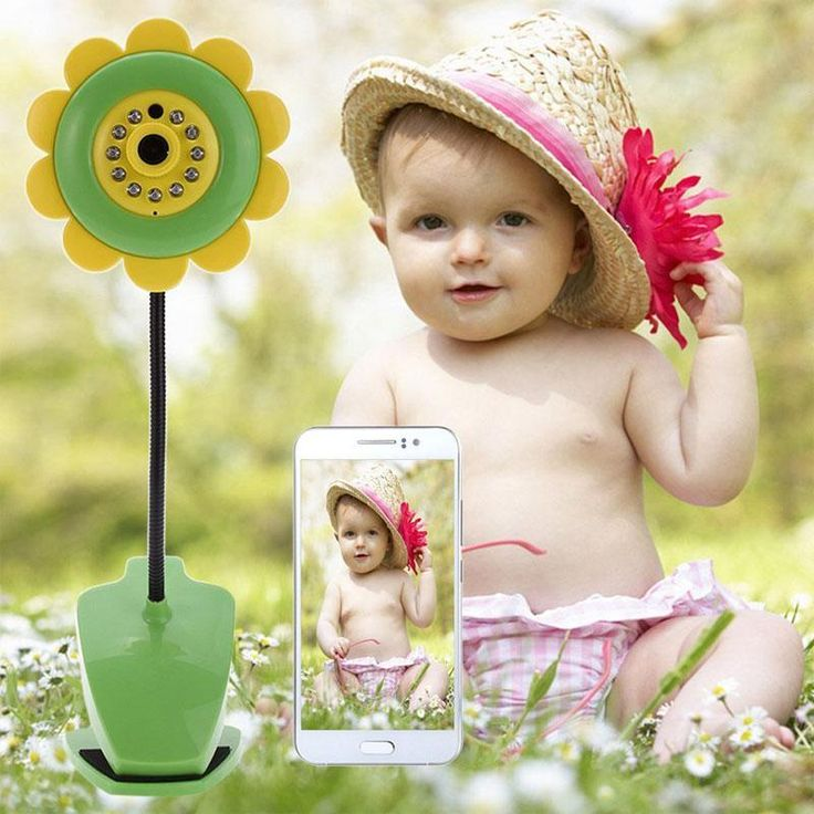 Cute Flower Design Camera Video Babysitter Night Vision for Smartphone IP Camera Wireless Video Wifi Baby Monitors Low Price