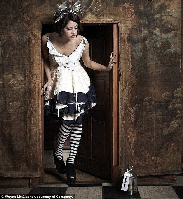 Down The Rabbit Hole ||  ~ Peaches Geldof does celeb shots of scenes from Alice in Wonderland / UK
