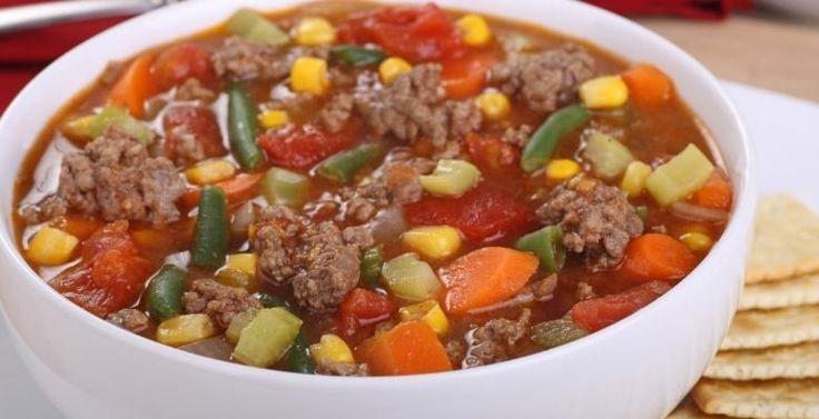 Soupe boeuf et légumes à l'italienne...moi avec du sans-viande Yves :)