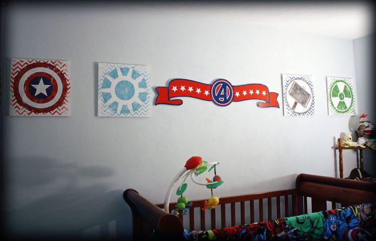 Ashers Superhero Avenger Nursery #superhero #marvel #nursery #babyboy #superherobabyroom #chevron #avengers
