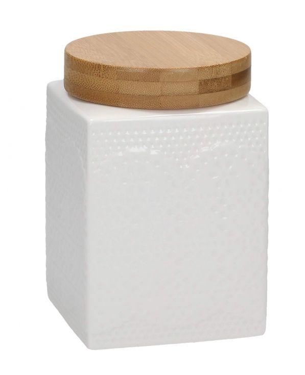 Pojemnik ceramiczny na kawę AFFEK DESIGN KWADRATOWY KORONKA 0,7 l