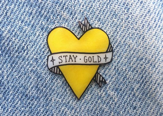 stay gold heart $9.81